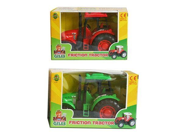A to Z Farmer Giles Friction Tractor- 2 Assorted Picked At Random