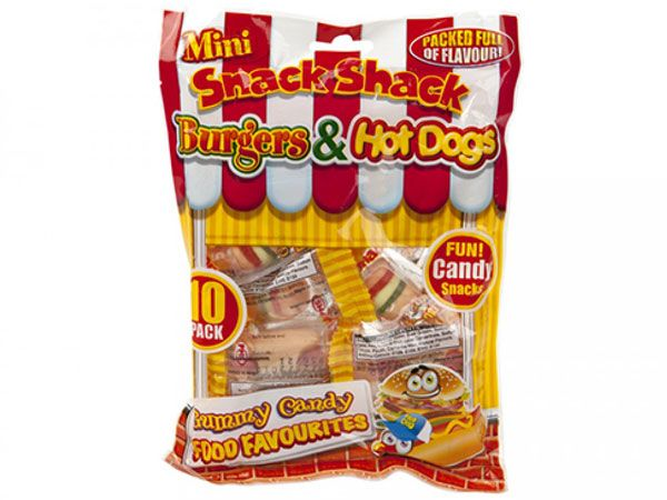 Snack Shack 10pk Gummy Sweets - Burgers And Hotdogs