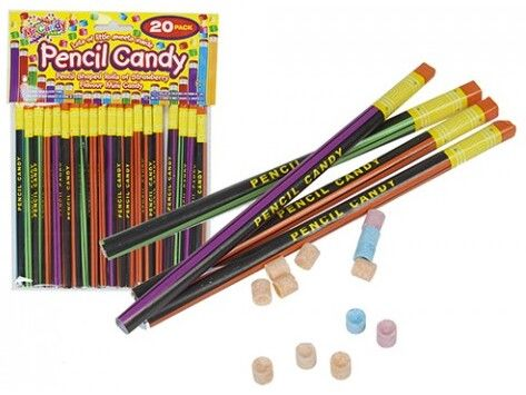 Mr Candy 20pk Pencil Shaped Rolls Of Candy