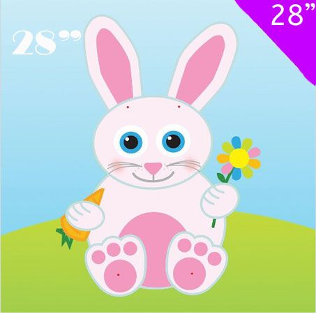 28inch Jointed Bunny Easter Decoration