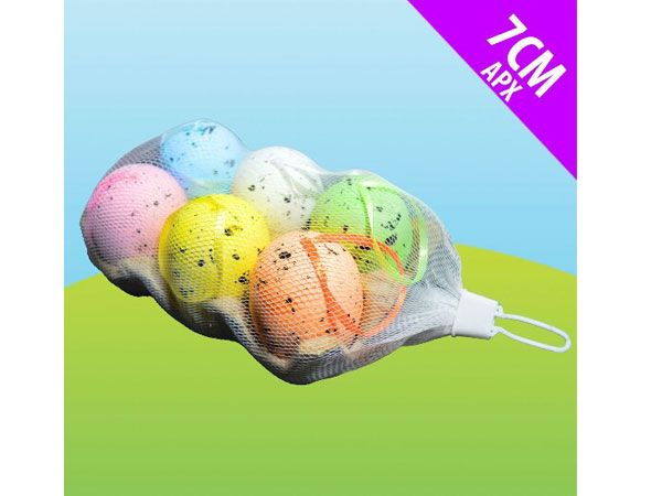 6 Speckled Decorative Easter Eggs In Egg Box