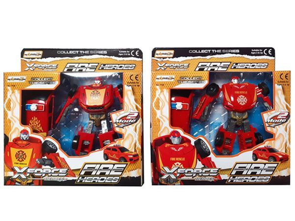 A To Z - X-Force Fire Heroes Robot Warrior Changer, Assorted, Picked At Random