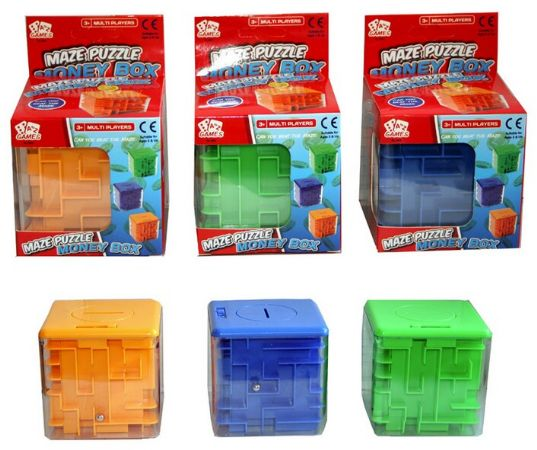 A to Z Games - Maze Puzzle Money Box  Assorted