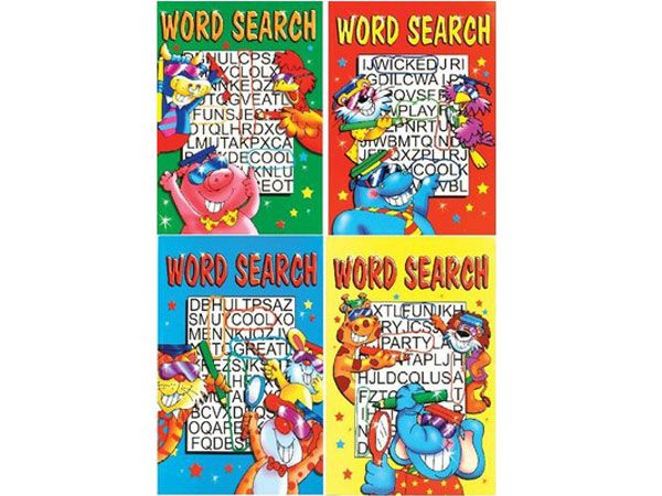 12 x A4 Word Search Childrens Puzzle Books