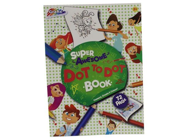 Grafix Super Awesome Colouring Dot To Dot Book