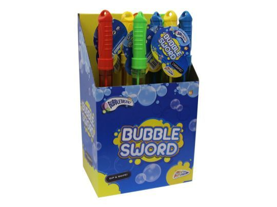 24x Bubble Factory Magic Bubble Sword In Display Unit