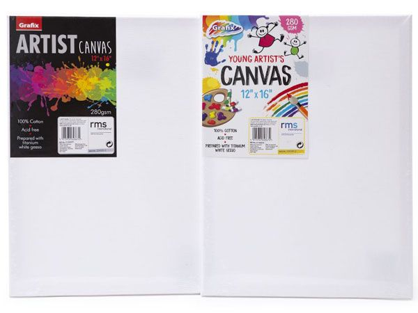 Grafix Artist Canvas Size 16in X 12in - Assorted Picked At Random (5141)