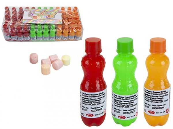 60x Mr Candy Rainbow Mini Candy Bottles...CLEARANCE