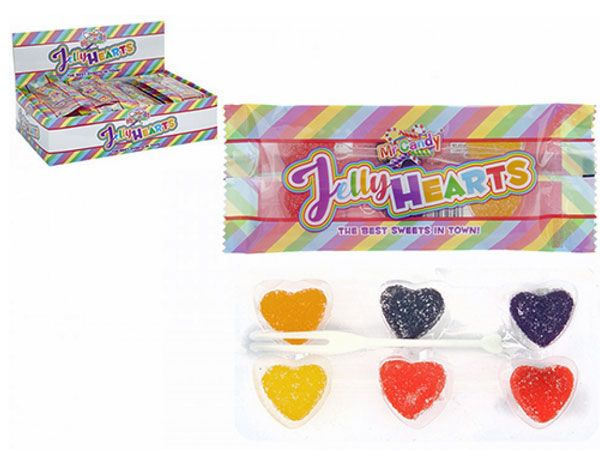 Mr Candy - 24x 6pk Assorted Jelly Hearts...CLEARANCE