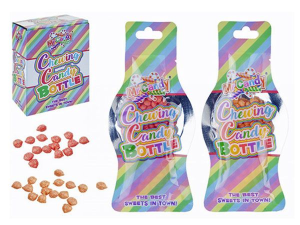 Mr Candy - 24x Mini Cewing Candy In Bottle Shape Bag