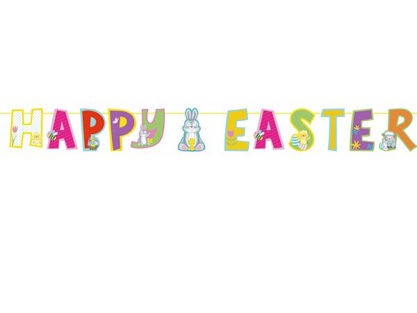 Happy Easter Garland - Approx 2 Metres Wide