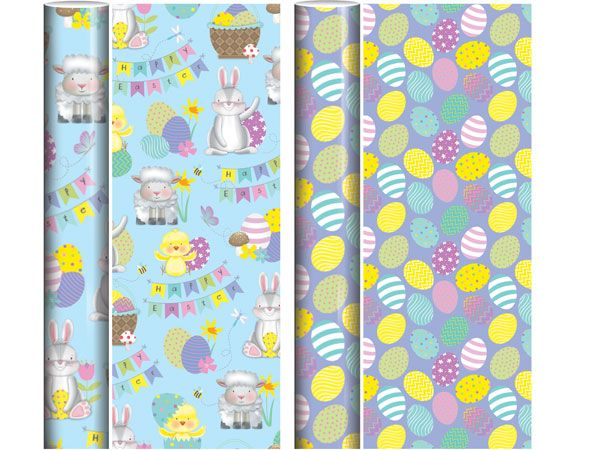 2m Easter Gift Wrap - Assorted, Picked At Random