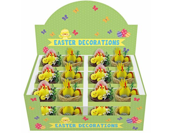 Easter Chicks In A Basket - Assorted Designs, Picked At Random