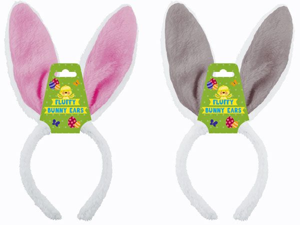Fluffy Easter Bunny Headband - Assorted, Picked At Random