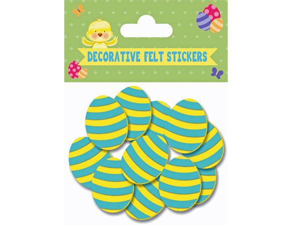 8pk Easter Egg Felt Stickers