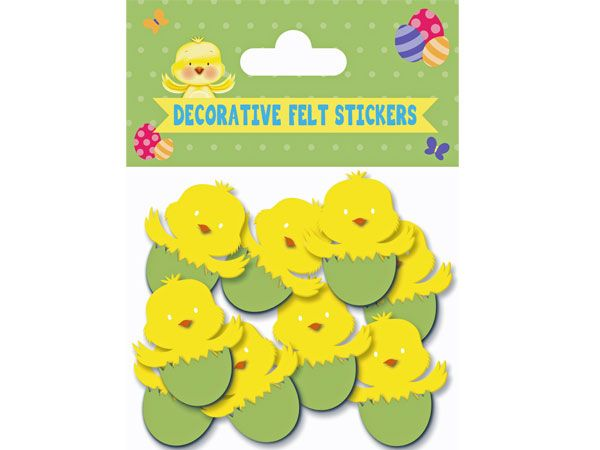 8pk Easter Chick Felt Stickers