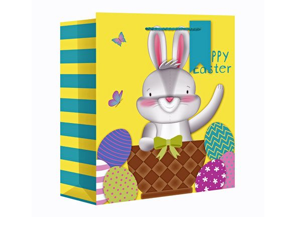 Easter Bunny Large Wide Gift Bag