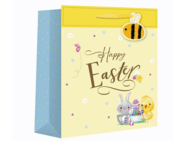 Happy Easter Large Wide Gift Bag