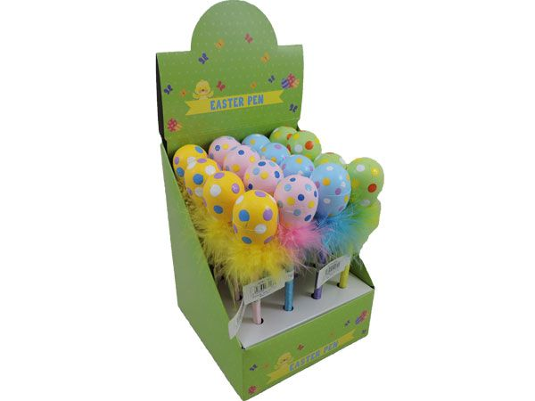 16x Easter Egg Novelty Pens In Counter Display