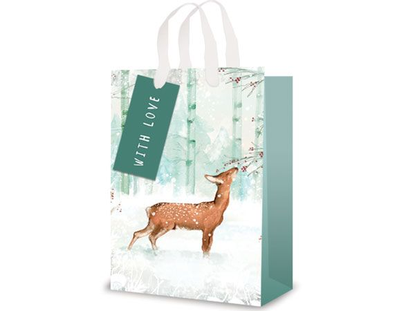12x Extra Large Christmas Gift Bag - Forest Deer