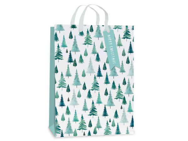 12x Extra Large Christmas Gift Bag - Foil Tree Design