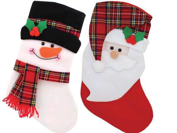 Festive Wonderland Childrens Deluxe Christmas Stocking - Assorted