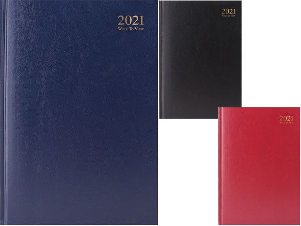 A4 Week To View 2021 Diary