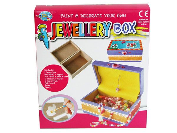 A to Z Paint And Decorate your own Jewellery Box