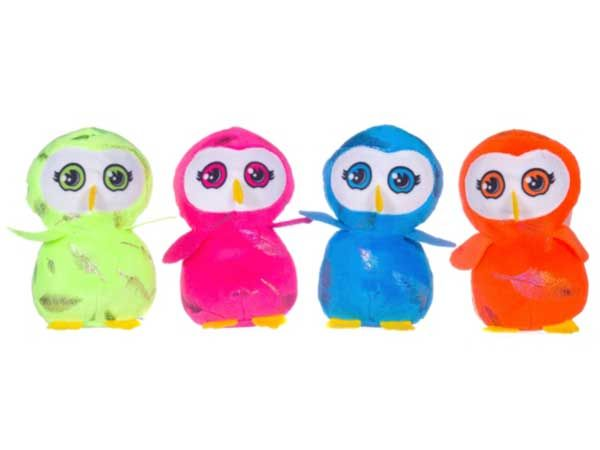 13cm Cute Bright Colour Owl...Assorted  (whl)
