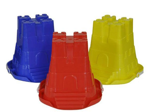 12x 8 inch Square Sand Castle Bucket With Steps And Pourer
