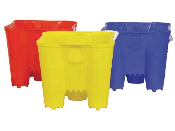 27cm Castle Sand Bucket, Assorted Picked At Random