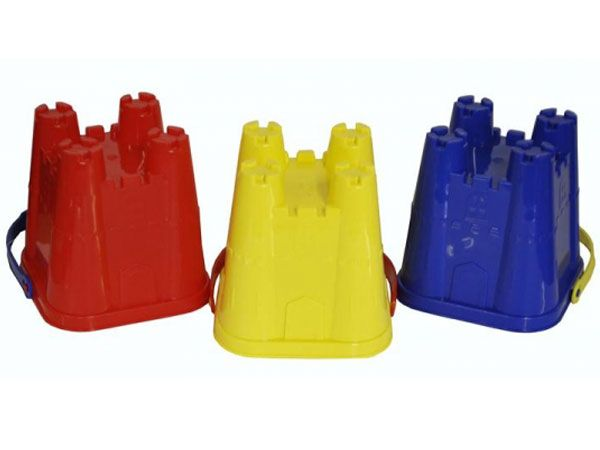 24x 15cm Square Sand Castle Bucket...Assorted
