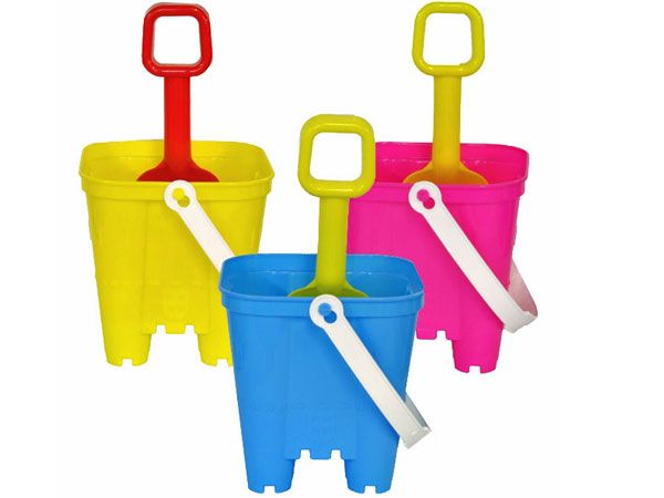 20x Small Square Castle Bucket And Spade Set
