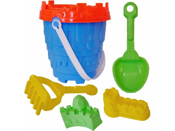 6pce Round Castle Bucket Set