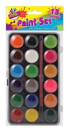 Art Box 18 Colour Paint Sets