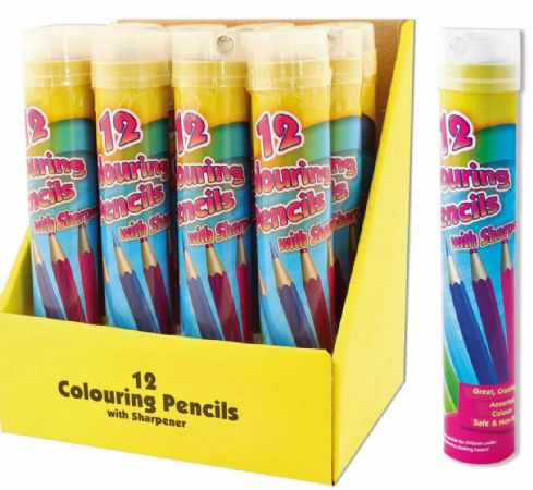 12x Art Box 12pk Full Size Colouring Pencils With Sharpener