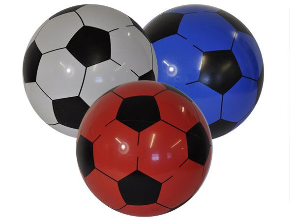 PVC Soccer Football In Nett - 22cm / 8inch, Assorted Picked At Random