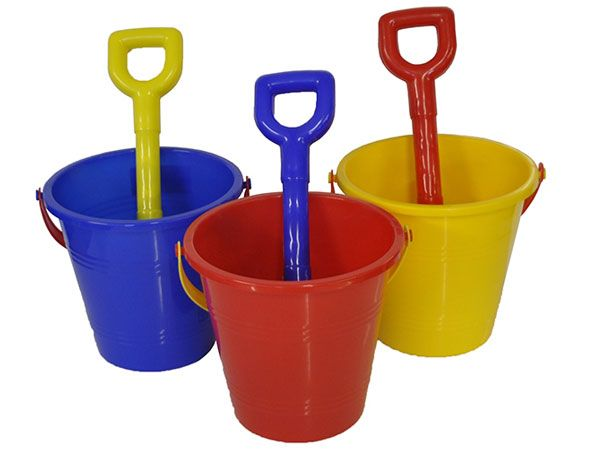 Round Sand Bucket And Spade Set - Assorted, Picked At Random