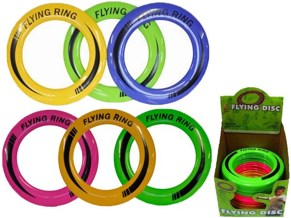 48x Neon Coloured Flying Disc / Fling Ring