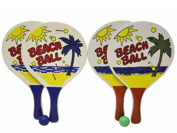 Wooden Beach Bats & Ball -  Assorted