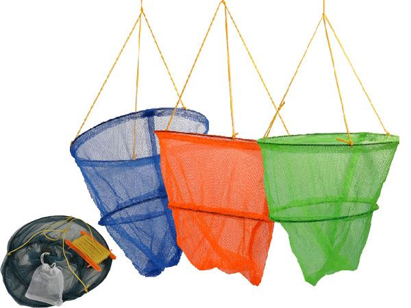 Lets Go Crabbing - 2 Tier 29cm Crab Net And Bait Bag, Assorted Picked At Random
