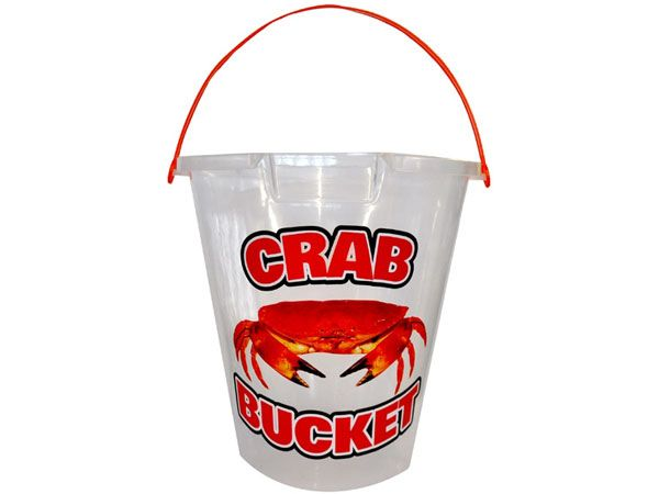 9 inch Clear Transparent Crab Bucket With Pourer, 5ltr