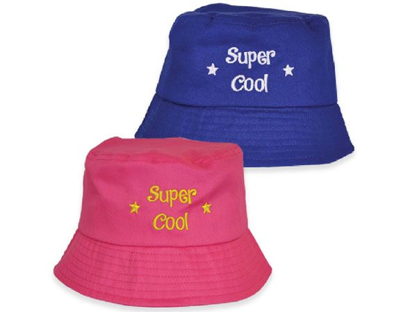 24x Assorted Kids Bucket Hats - Super Cool