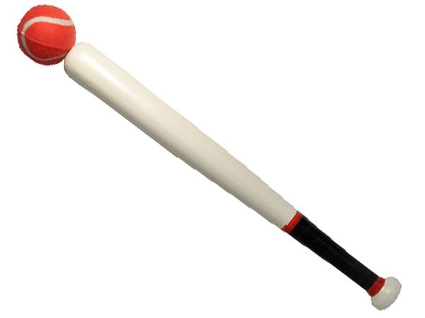 Wooden Rounders Bat And Ball Set