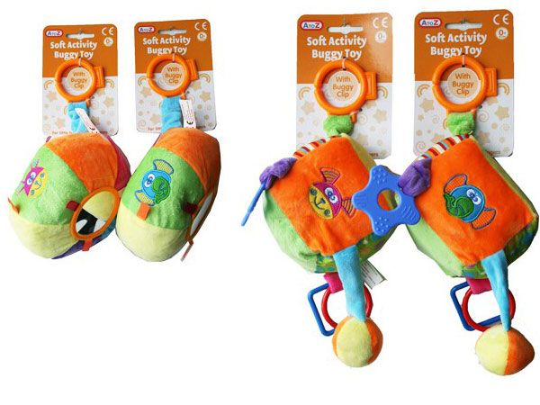 A To Z Soft Buggy Activity Toy - 4 Assorted Picked At Random