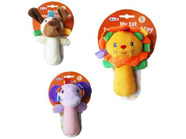 A To Z (Funtime) My 1st Squeaky Hand Toy - Assorted, Picked At Random