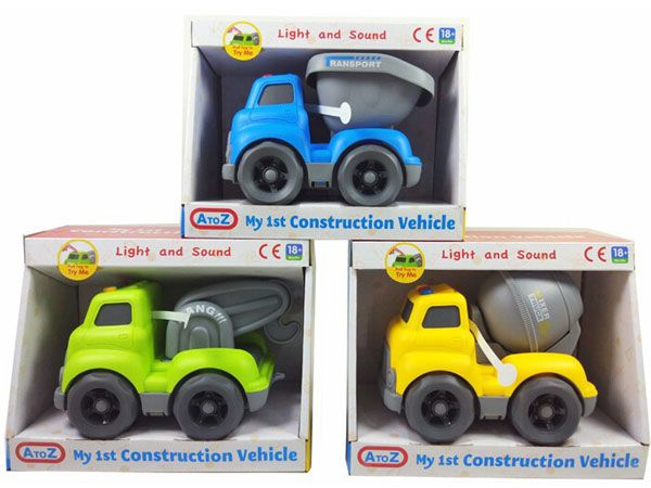 A To Z My 1st Construction Vehicle - 3 Assorted