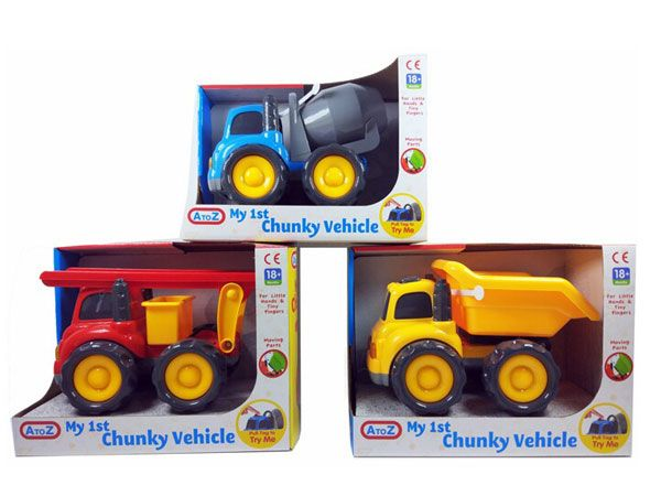 A To Z My 1st Chunky Vehicle - 3 Assorted