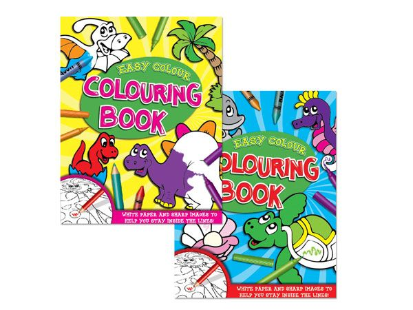 Easy Colour Colouring Books - 2 Assorted