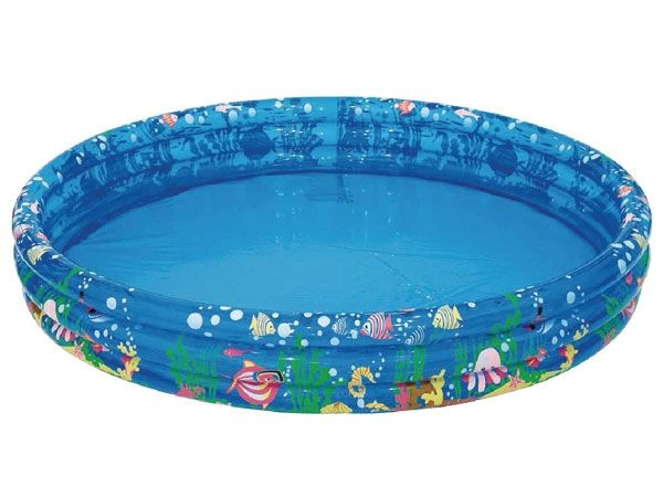 Palmax Aqua Tropical 3 Ring Inflatable Pool, 48inch x 10inch